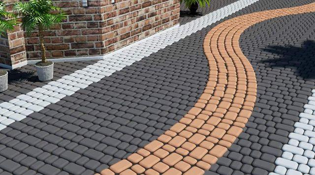 Тротуарная плитка, брусчатка v бордюрный камень